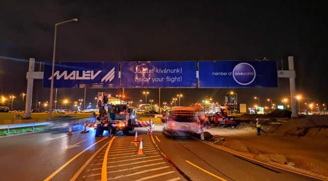 Malév reklámtábla (Fotó: Budapest Airport)